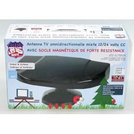 ANTENA TV 360ª 12/24V IMAN